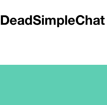 dead-simple-chat embedded into virtual event platforms